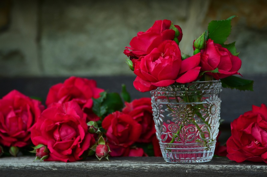 2018 Photos roses-red-roses-bouq