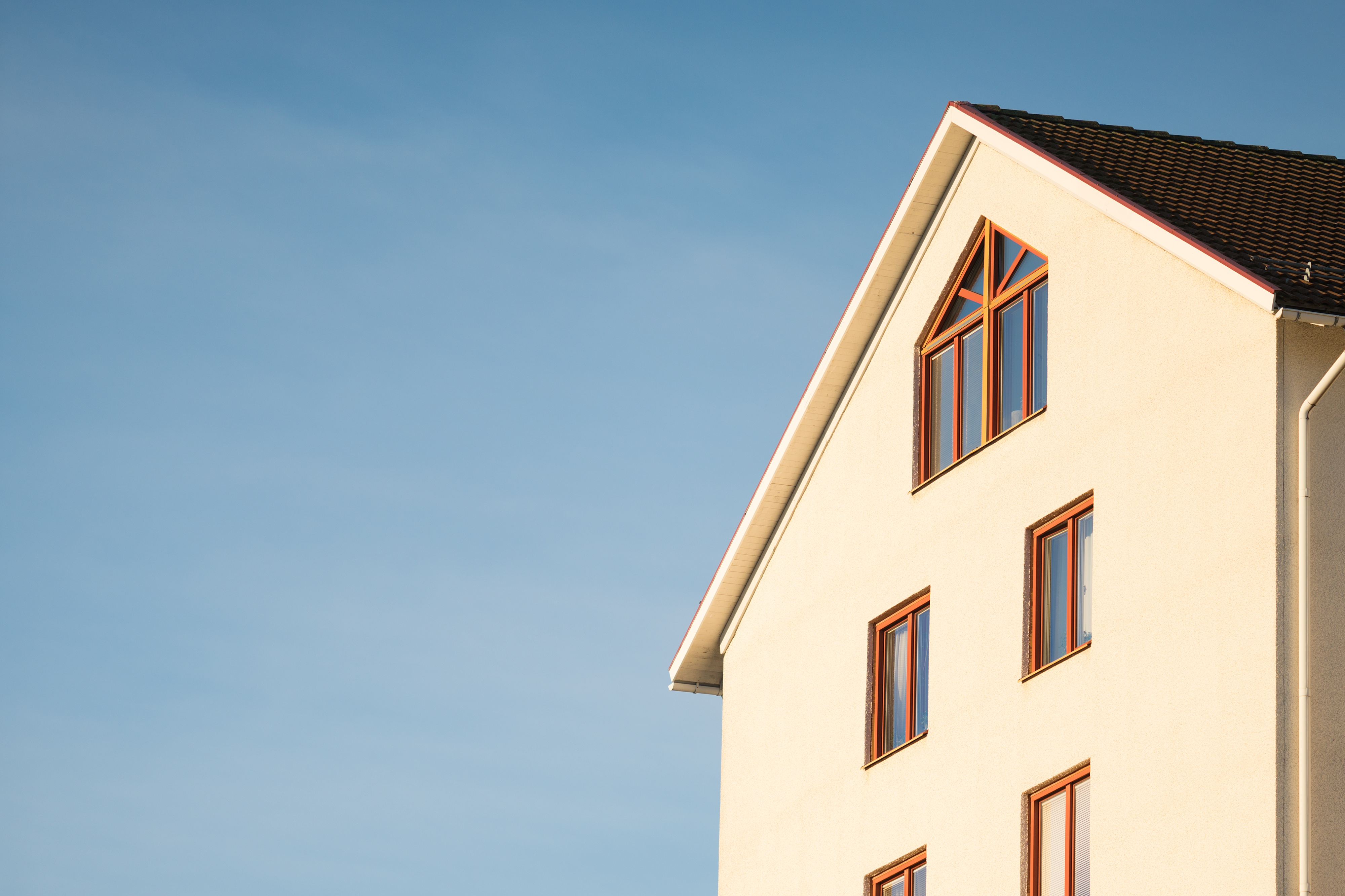Architecture modern houses crop details blue sky stock photo for Blue modern house