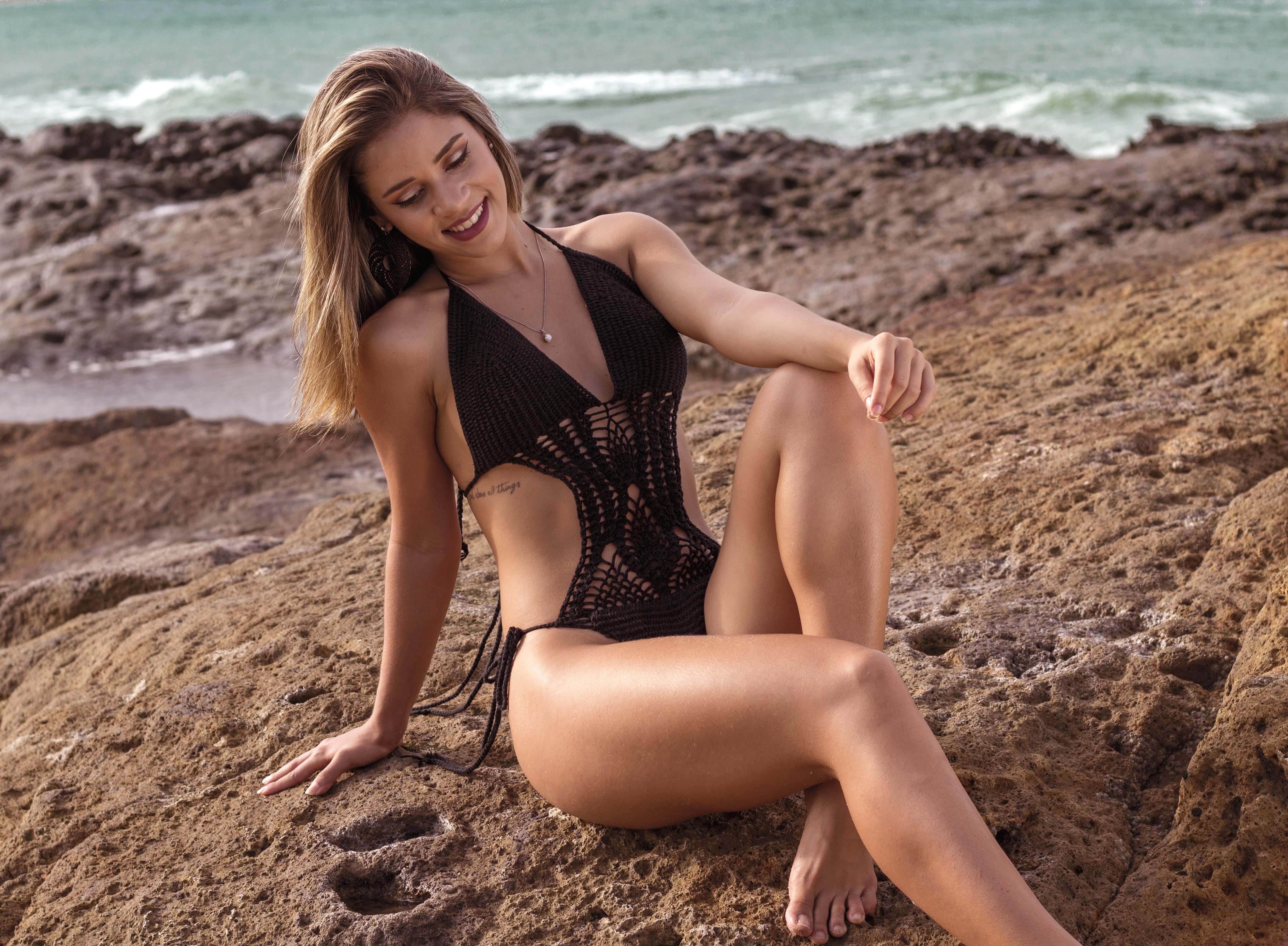 Free stock photos of beautiful women pexels free stock photo of sea fashion person beach voltagebd Images