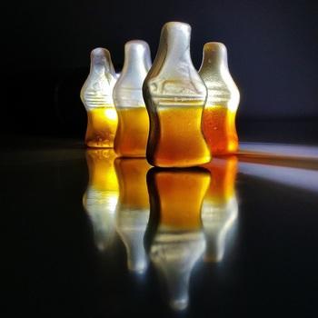 Free stock photo of bottles, reflection, sweetness, shapes