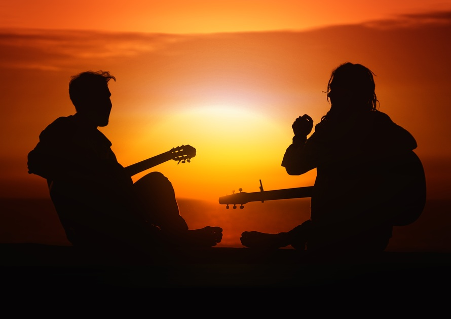 sunset, sun, silhouette