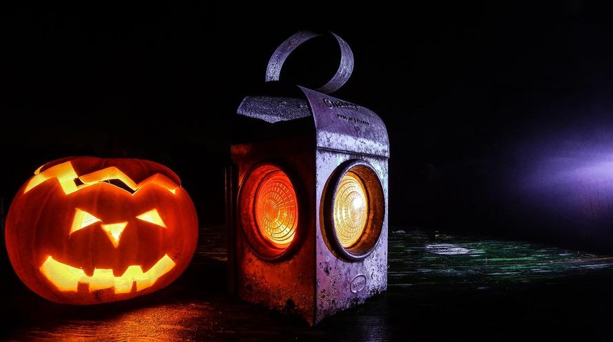 halloween, jack o'lantern, lamp