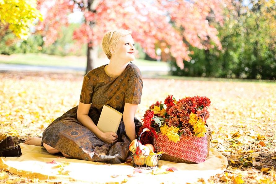 autumn, fall, girl