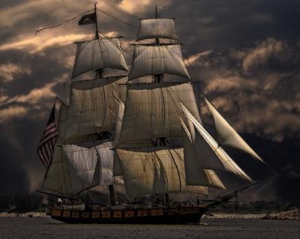 Free stock photo of sea, water, ocean, sailing ship