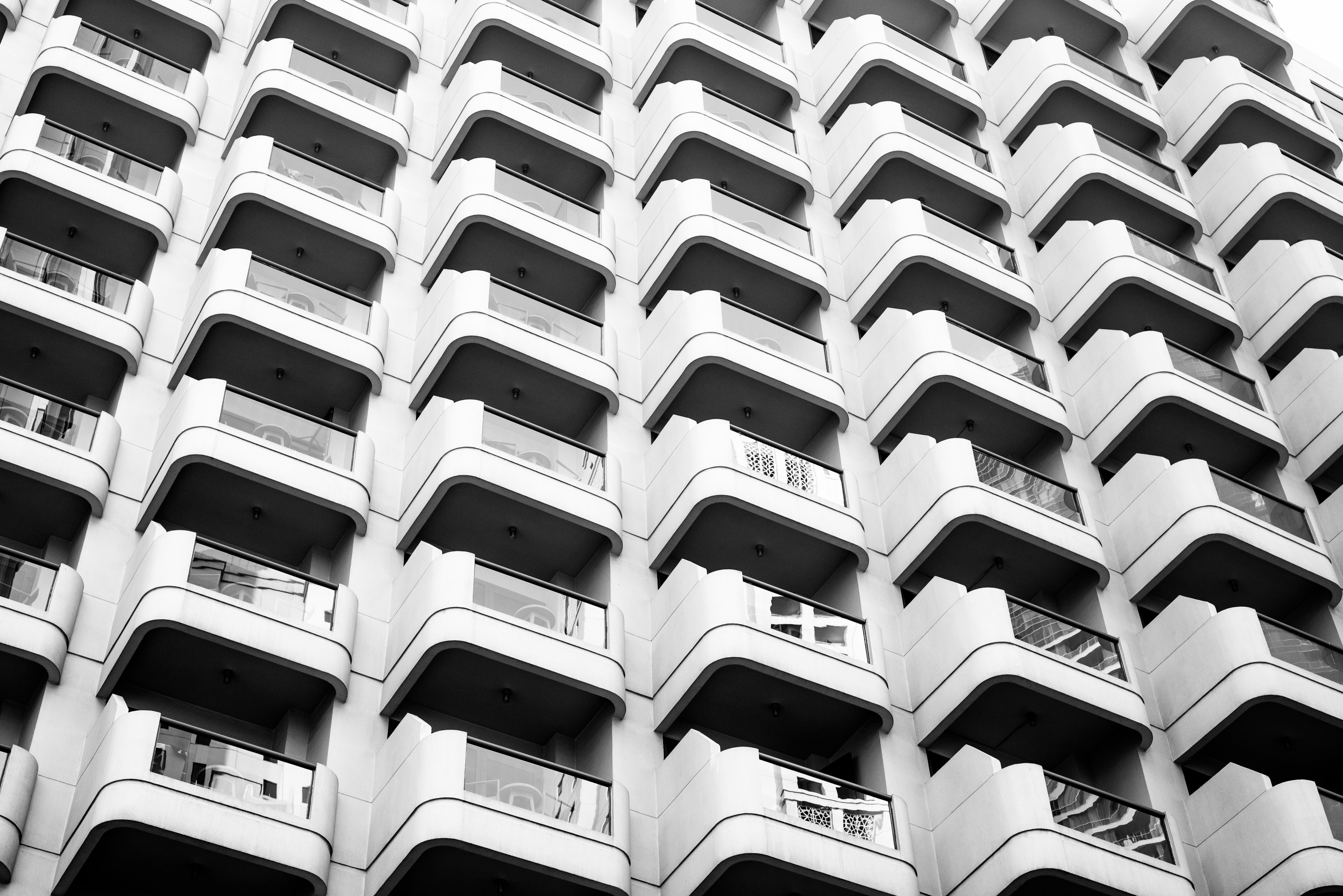 Apartment complex.