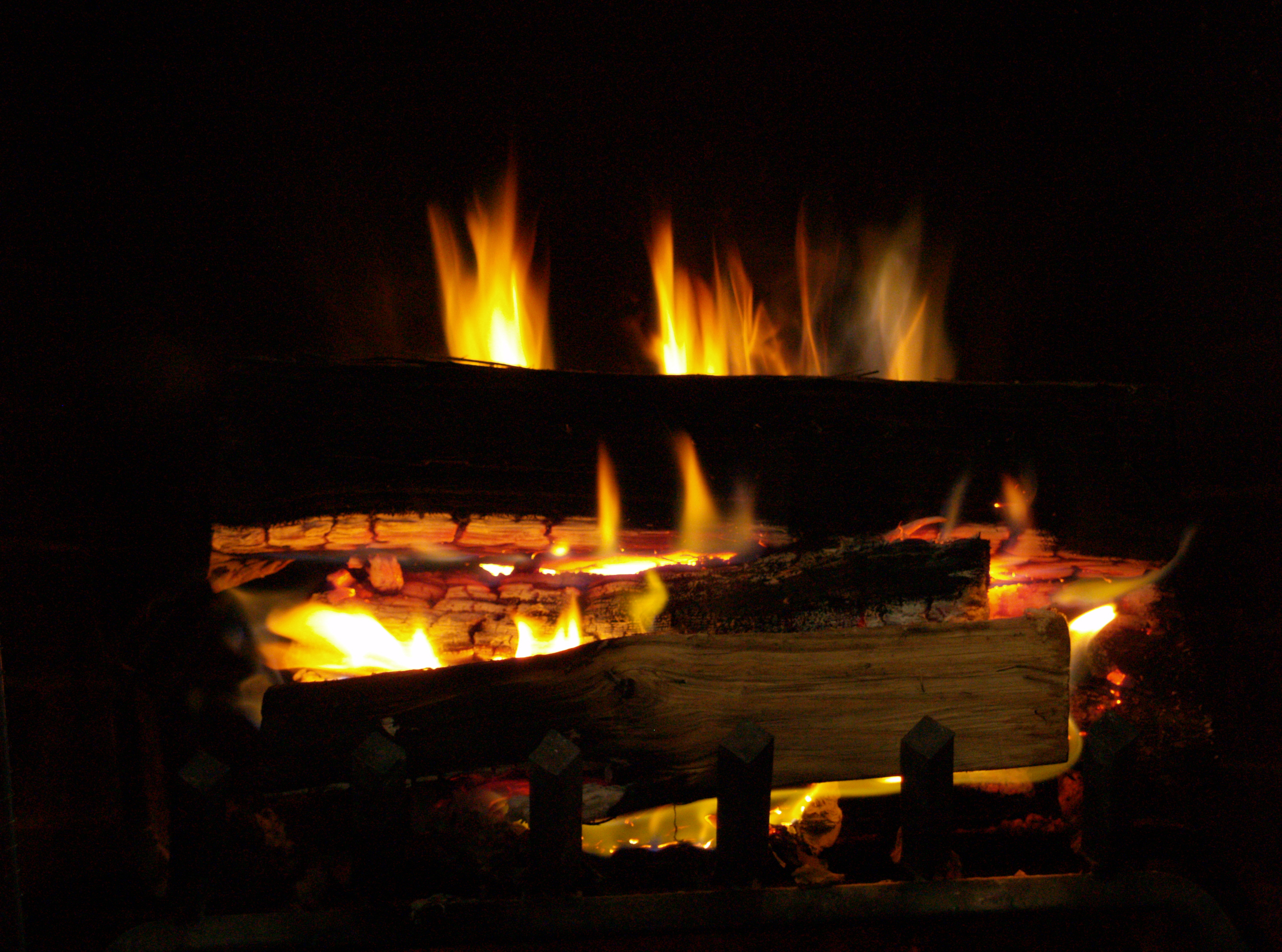 free stock photo of fire fireplace firewood