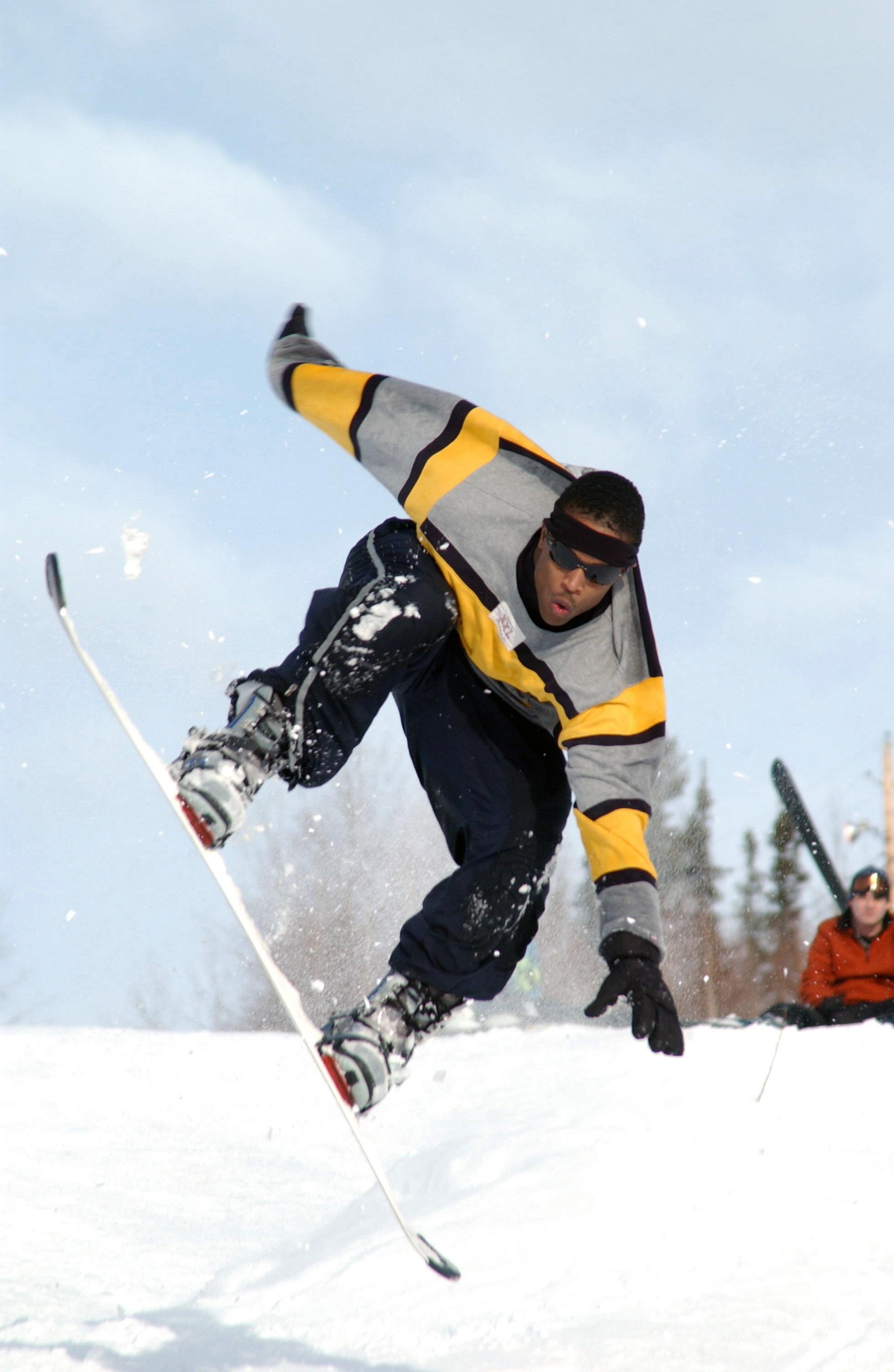 Man Riding A White Snowboard During Daytime 183 Free Stock Photo