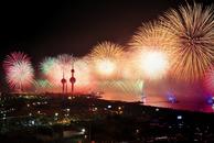 city, night, explosion