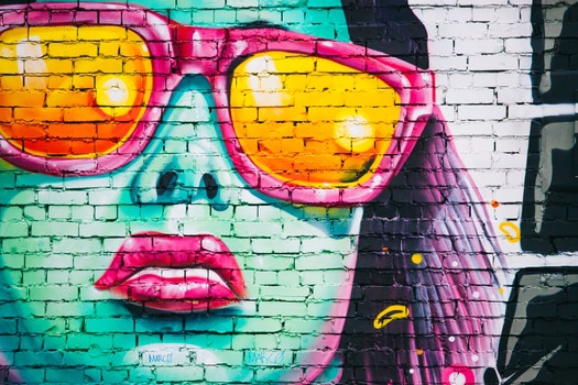 Free stock photo of woman, art, graffiti, wall