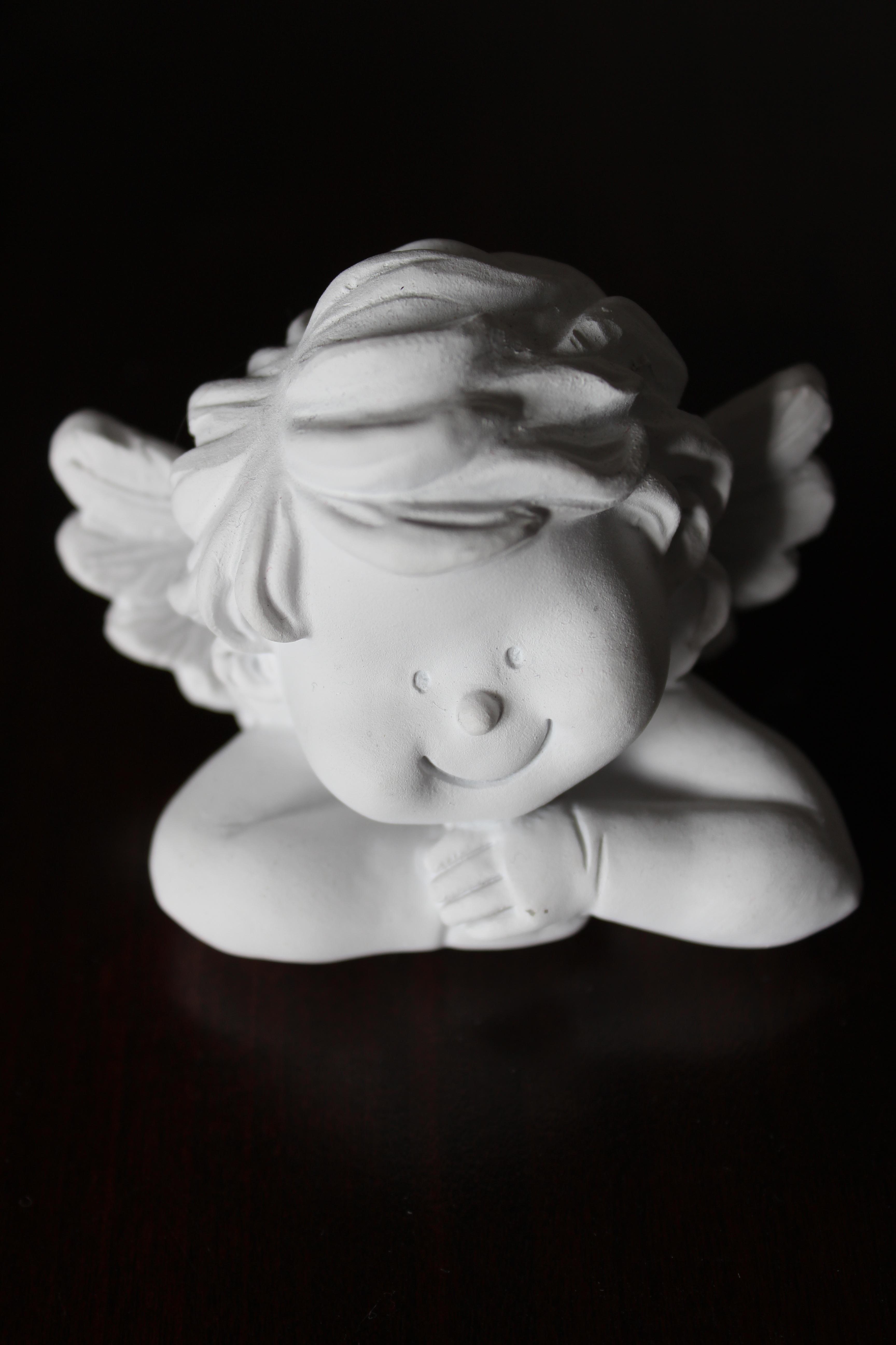 White Angel Figurine 183 Free Stock Photo