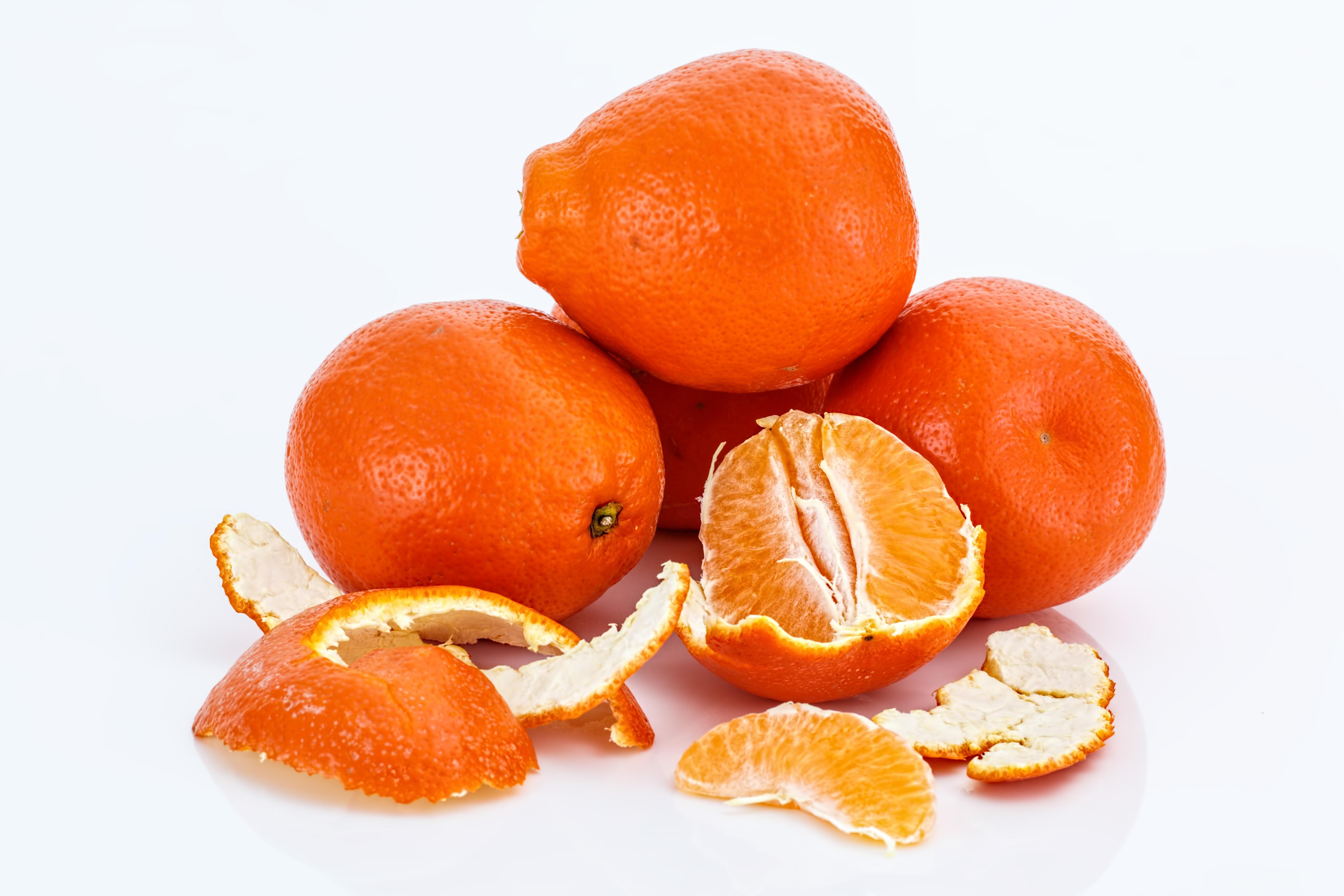 Orange Vegetables And Fruits Peeled Orange Fruits &...