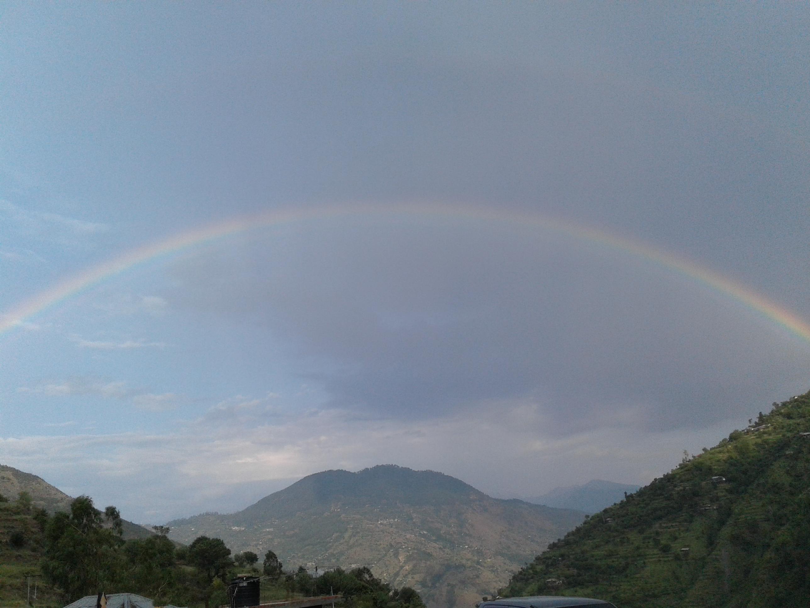 free stock photo of himalayas mountain rainbow