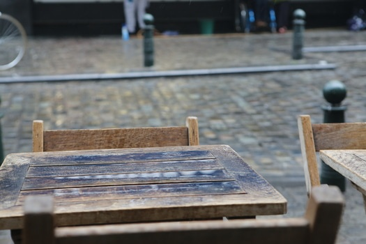 Royalty free images of rainy, table, chair