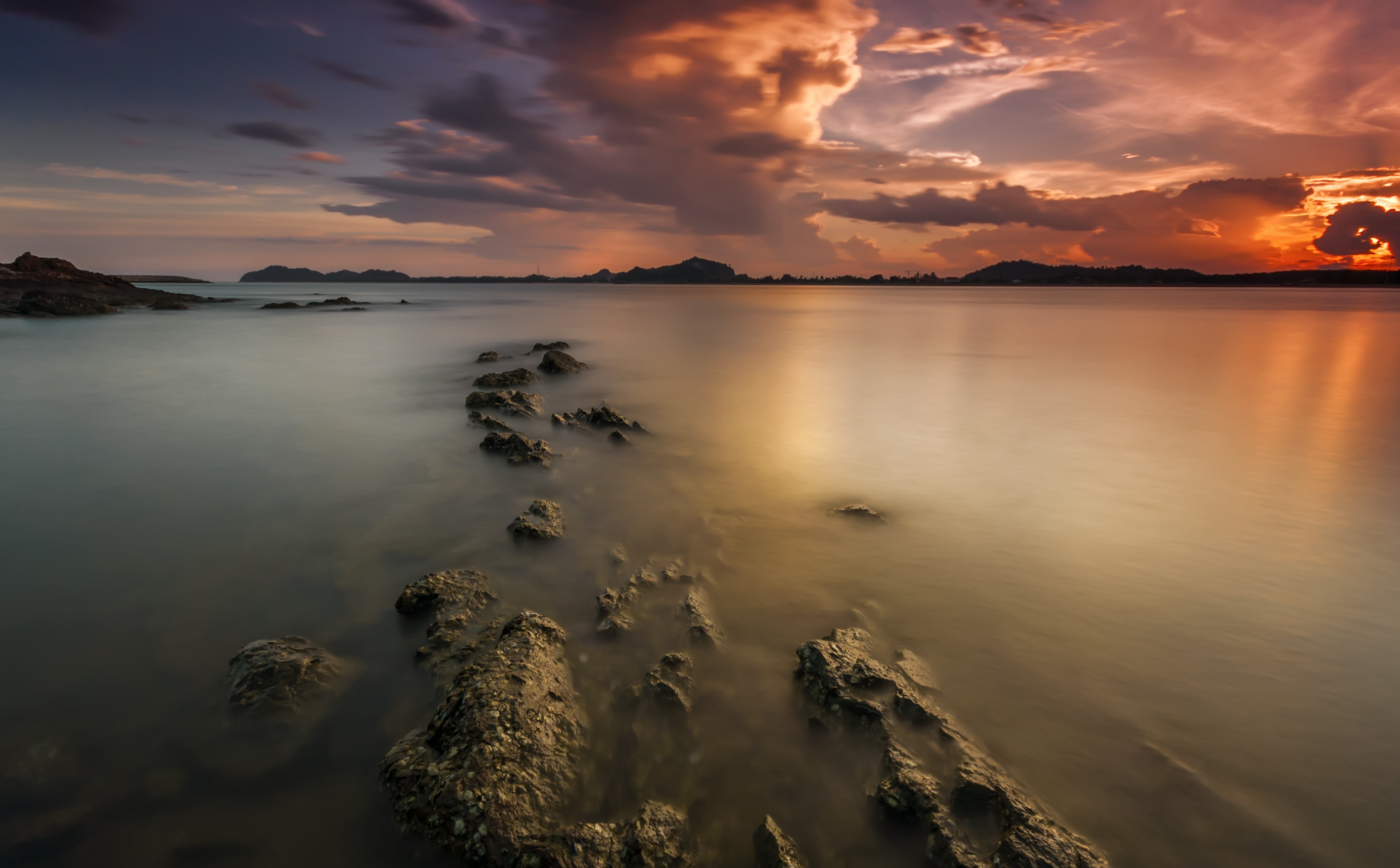 Free stock photo of beach, clouds, dawn