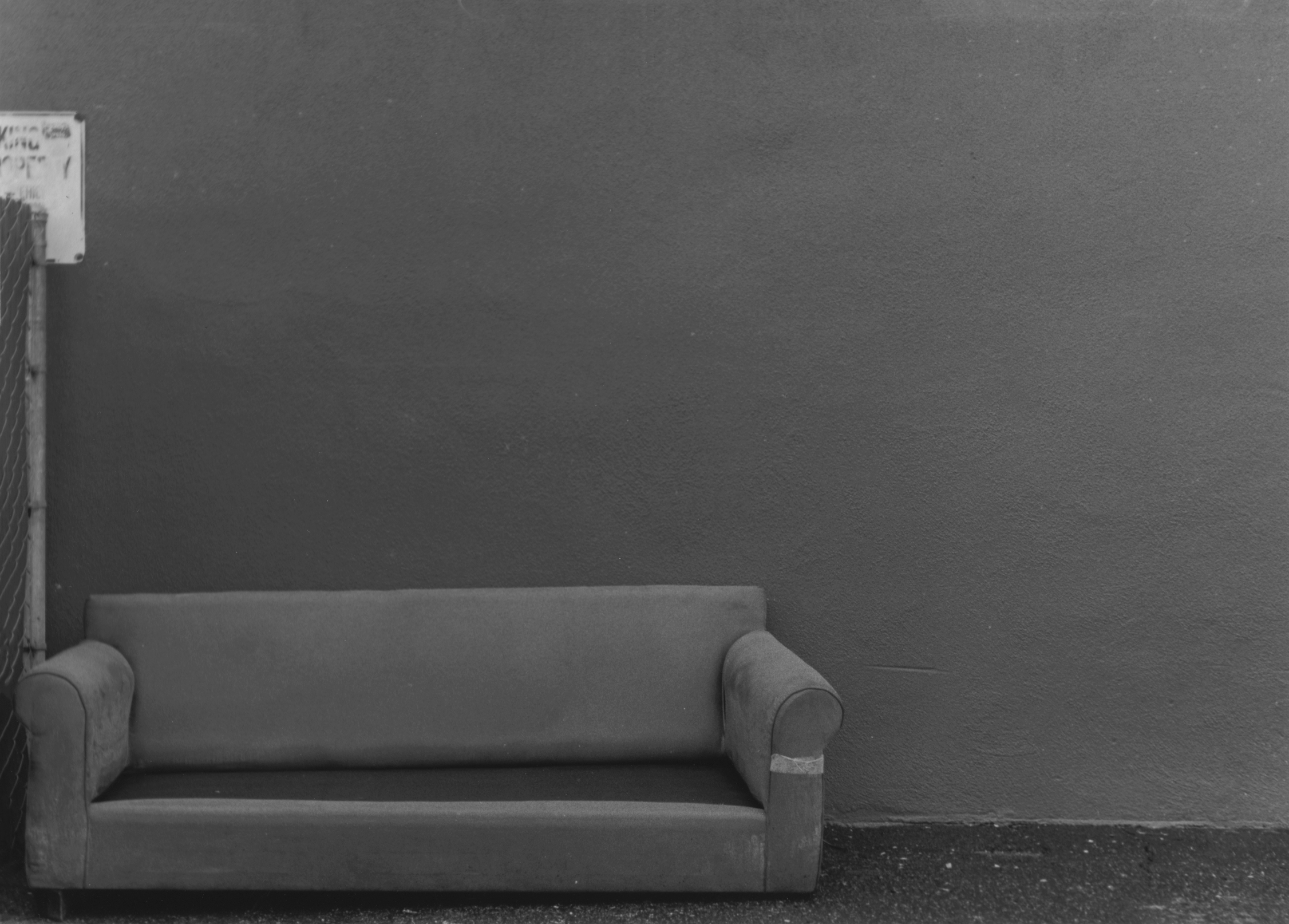 Free Stock Photo Of Alley, Black And White, Couch