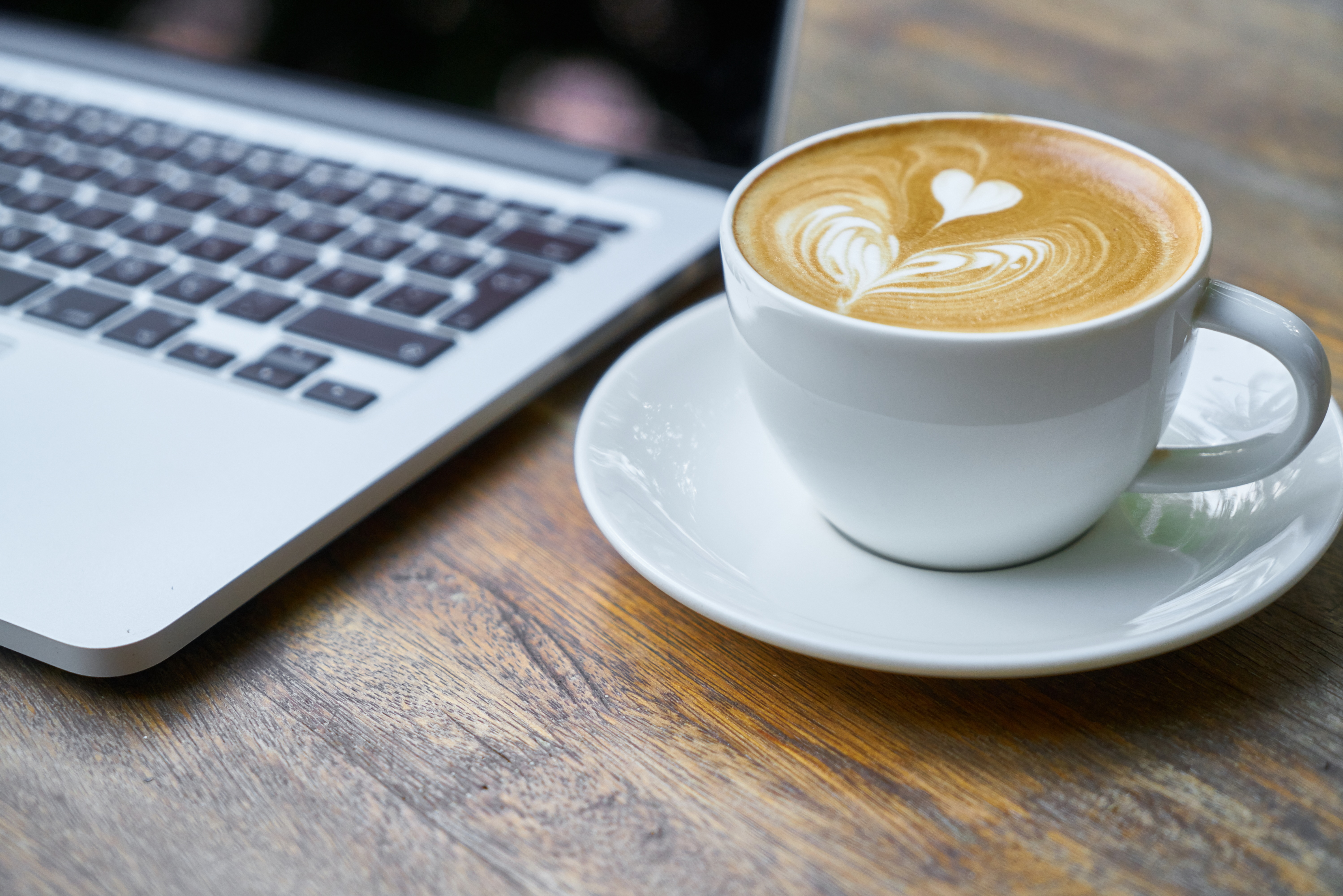 Free Stock Photo Of Caffeine Coffee Cup Laptop