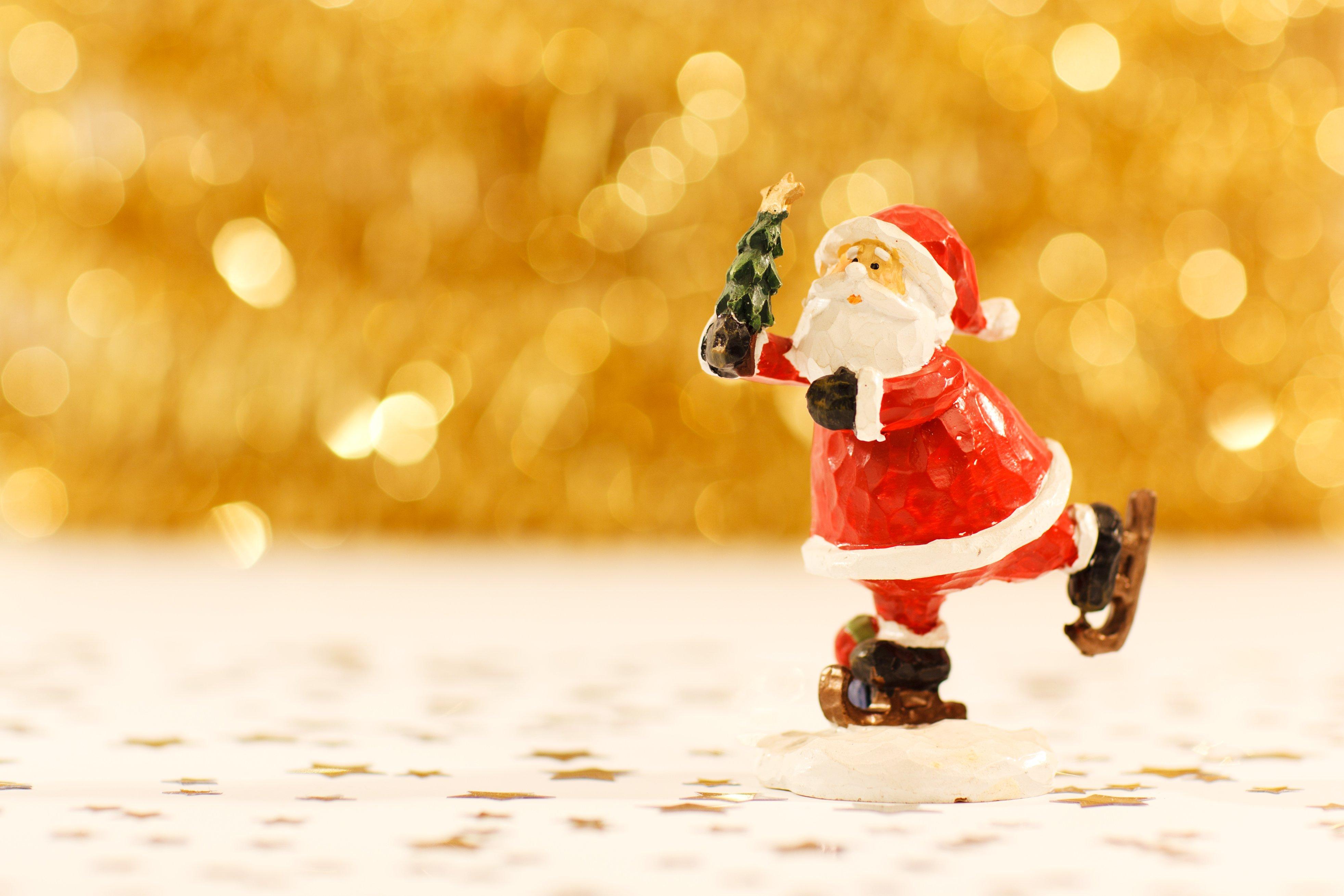 santa clause figurine free stock photo