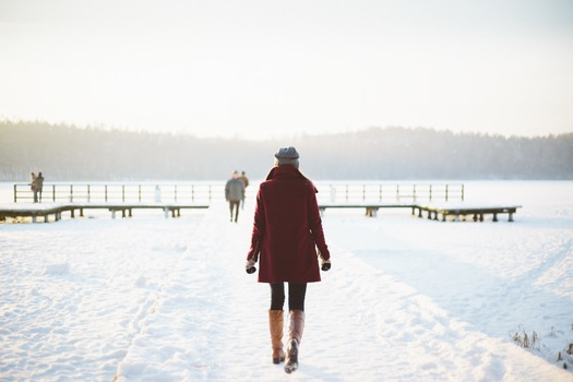 Free stock photo of cold, snow, woman, winter