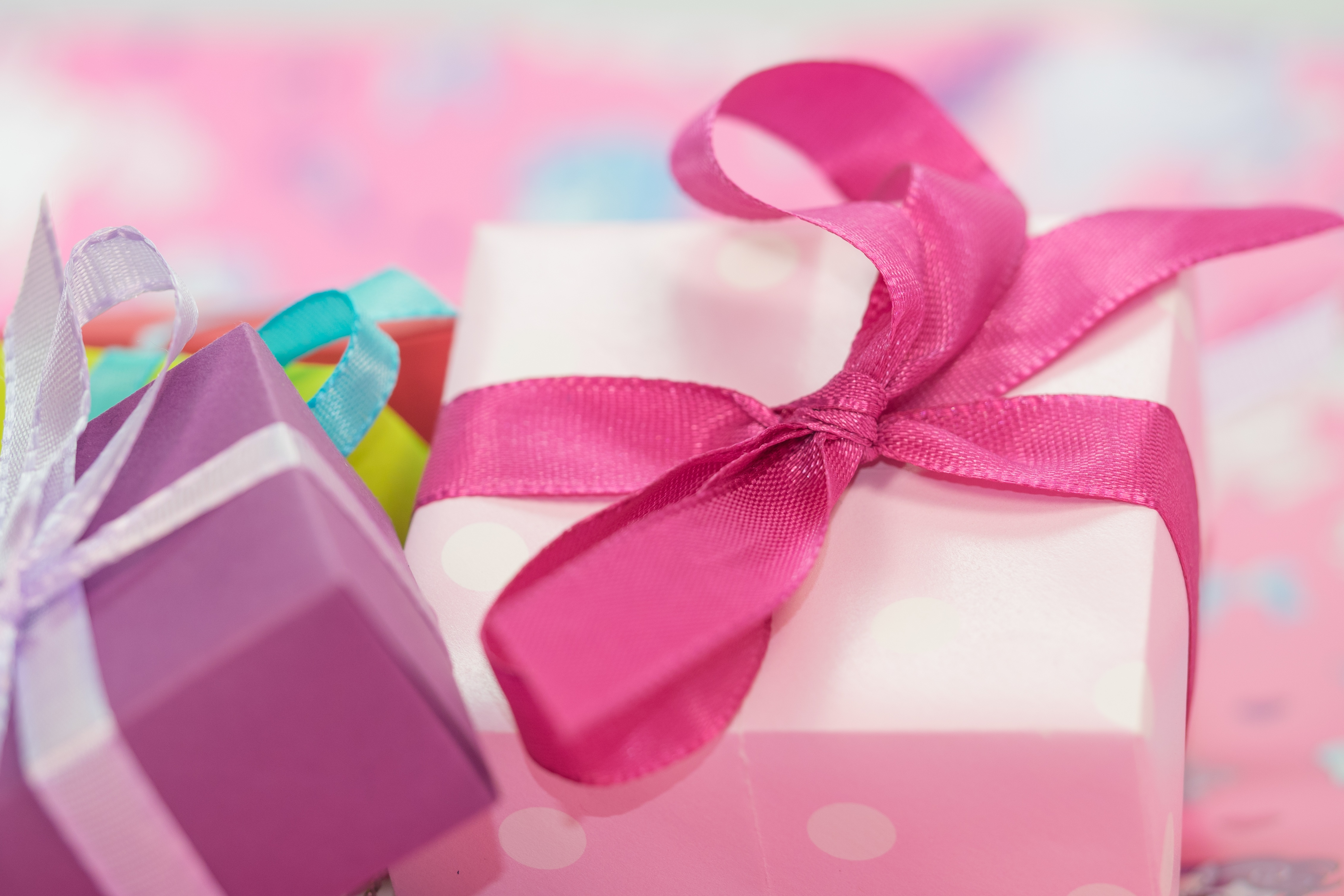 Free stock photos of gift packaging pexels white and purple gift box with pink and white ribbon negle Image collections