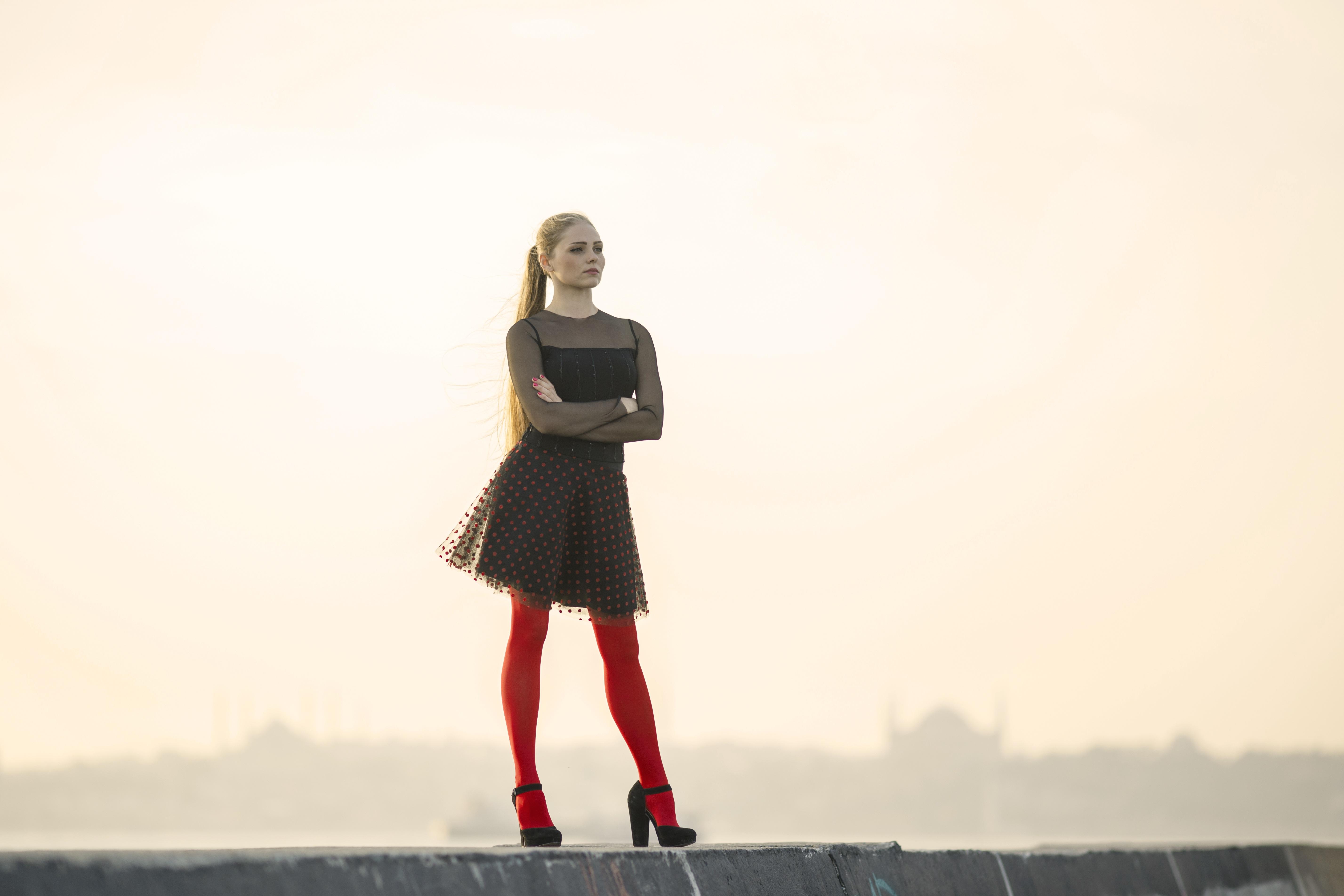 Thigh High Stockings Size Chart: Free stock photo of aesthetics beautiful beauty,Chart