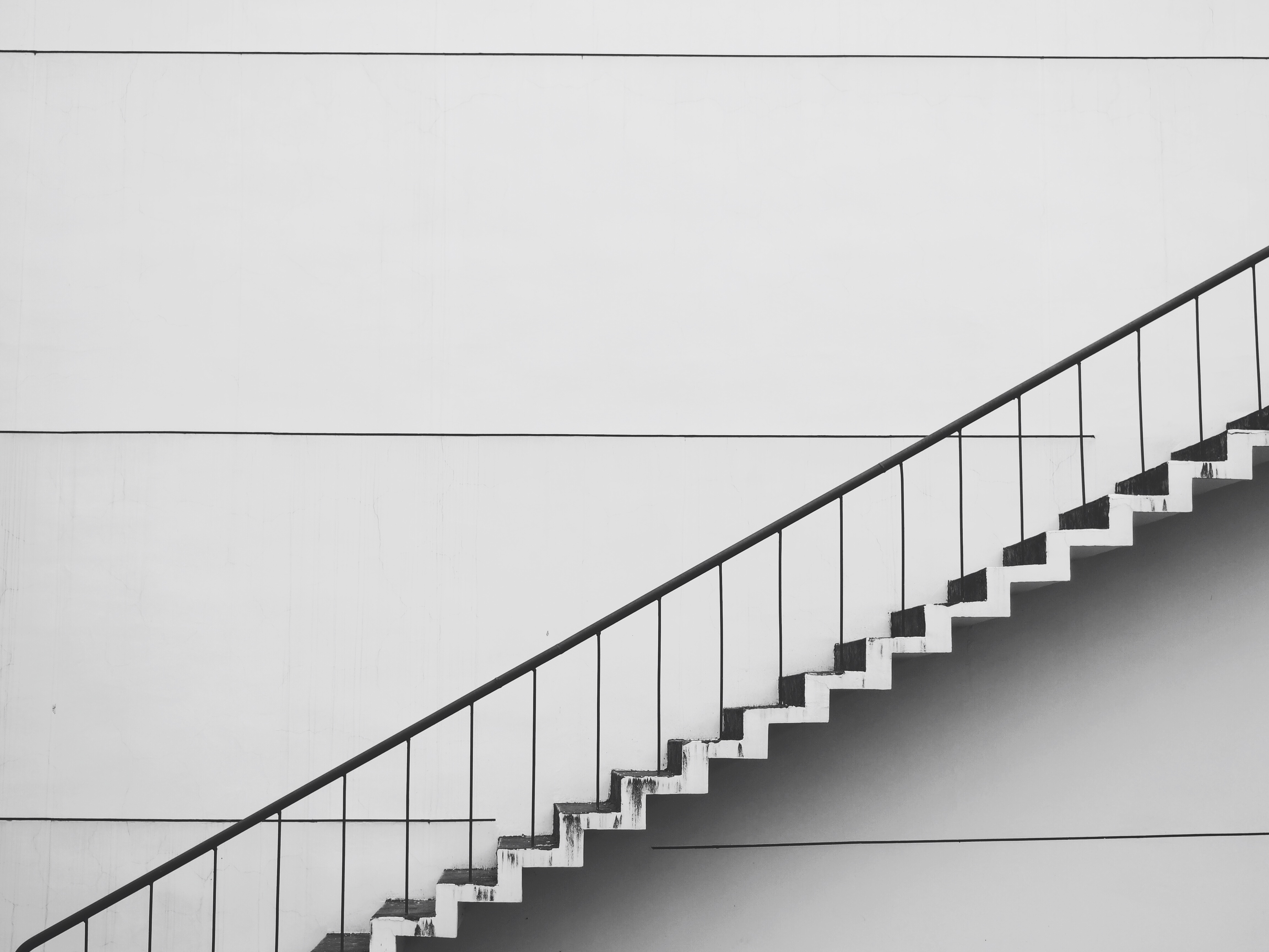 Free Stock Photo Of Stairs, Steps, White, Railings