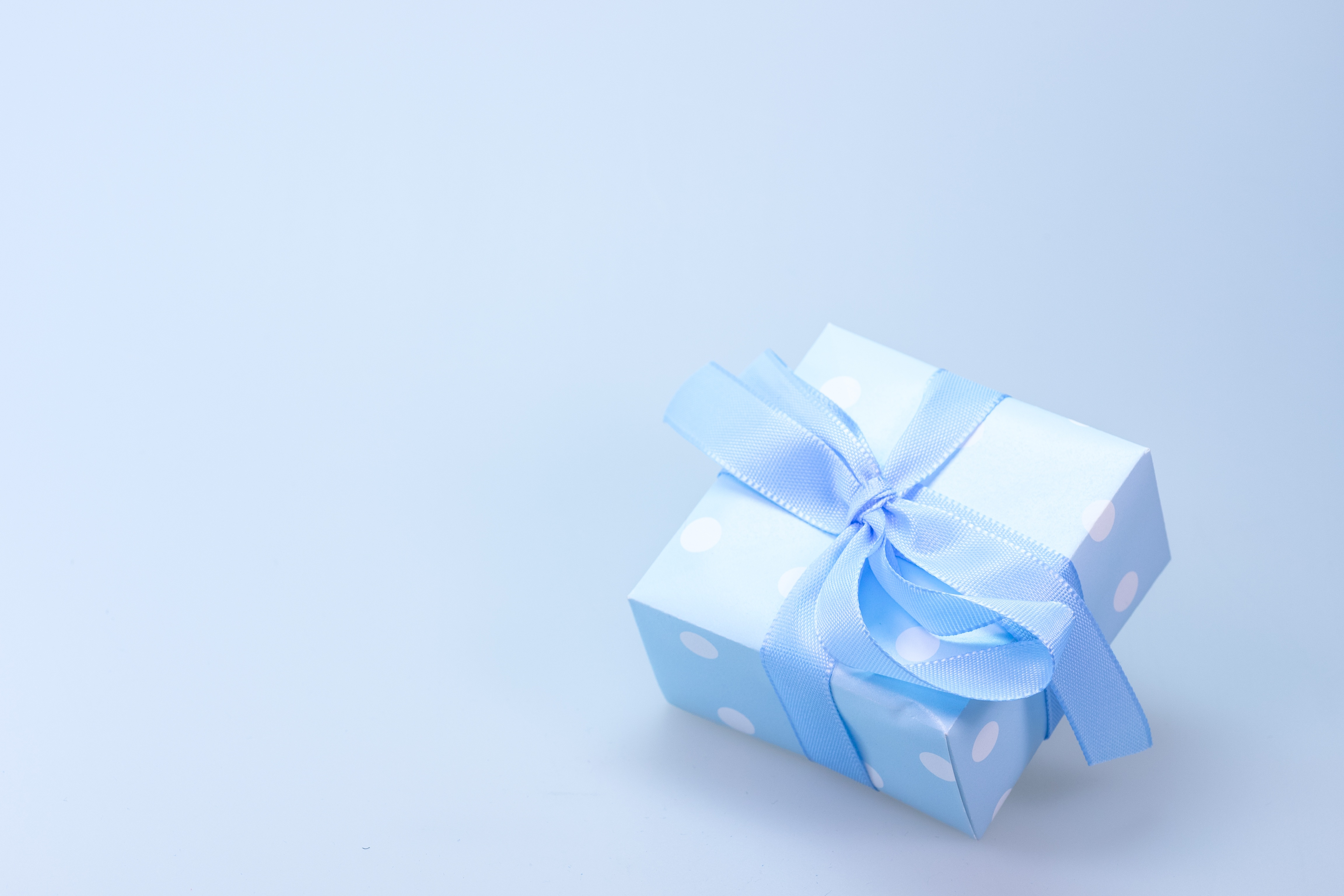 Black gift box free stock photo blue and white polka dot gift box with blue ribbon negle Gallery