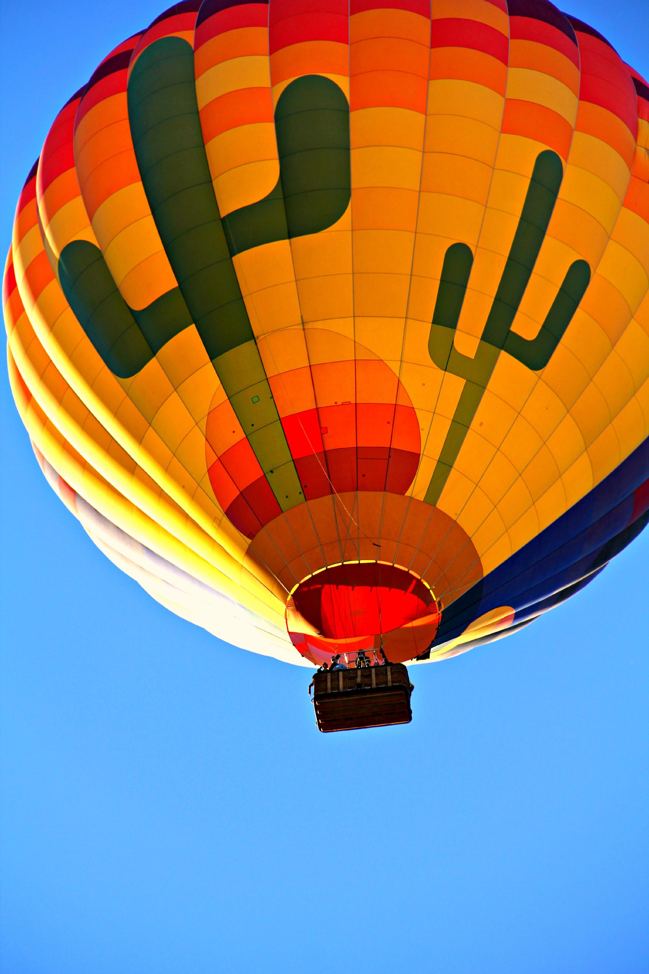 Orange Blue Yellow and Green Hot Air Balloon · Free Stock ...