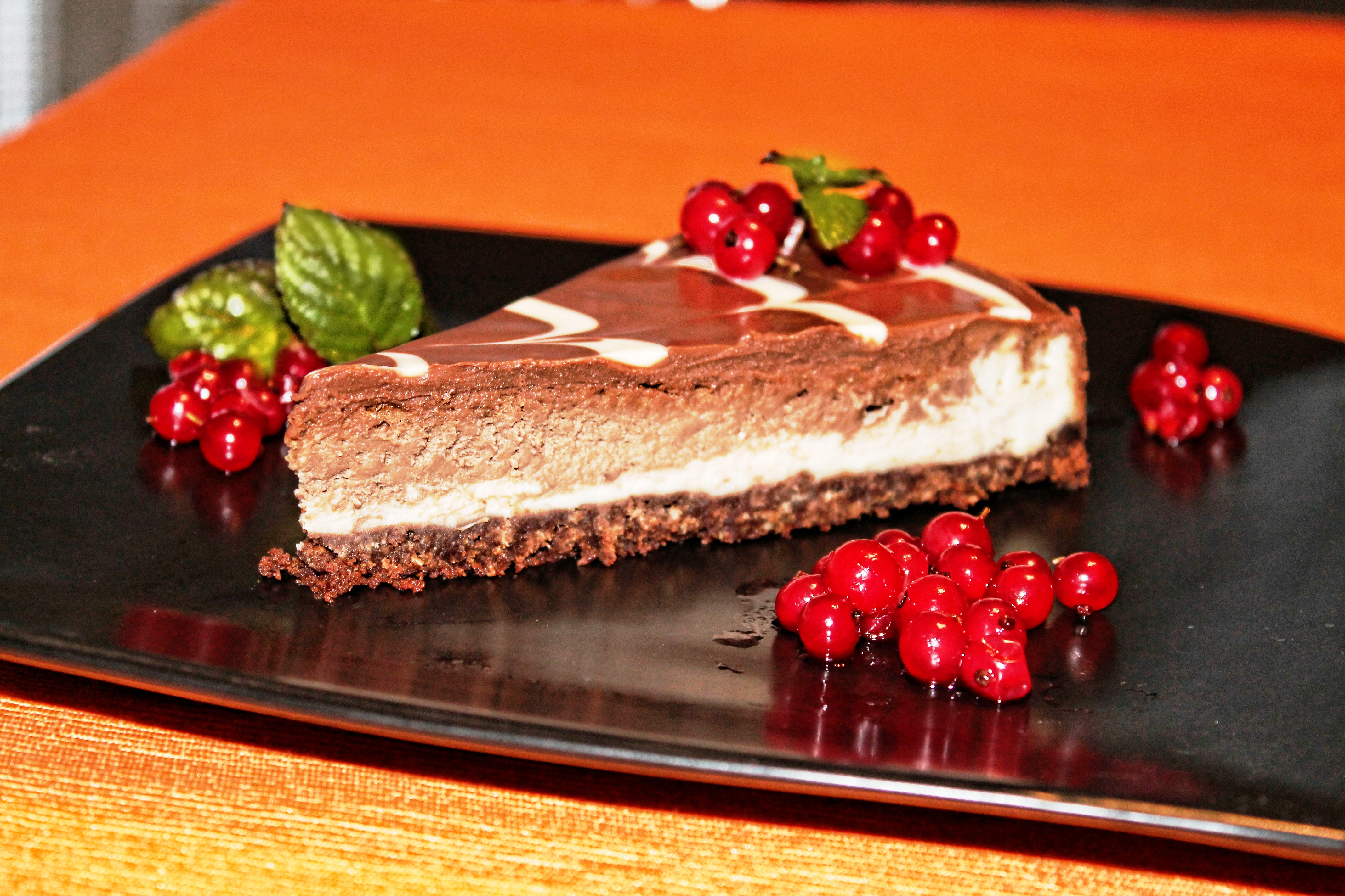 Free stock photo of cheesecake, choco, chocolate