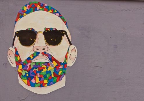 Free stock photo of man, sunglasses, art, graffiti