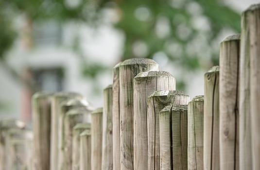 Brown Wooden Fence in Front