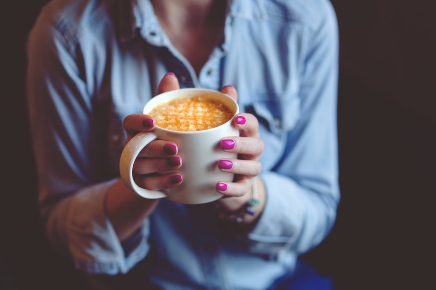 hands, coffee, cup