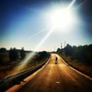 road, man, street