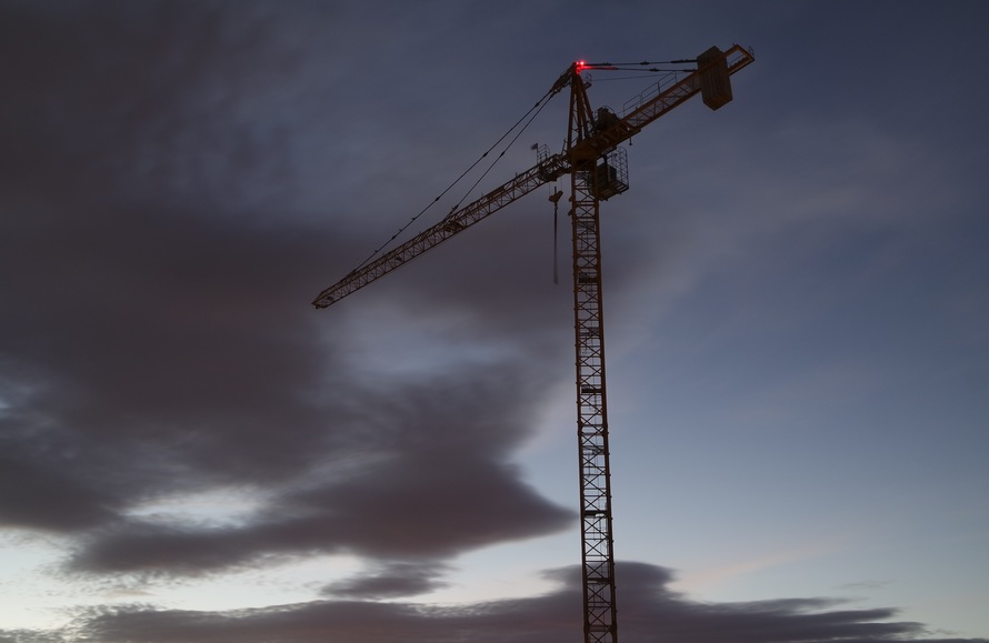 clouds, construction, crane