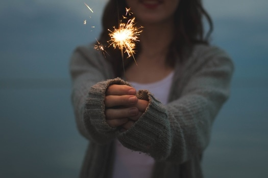 Free stock photo of light, person, woman, fire