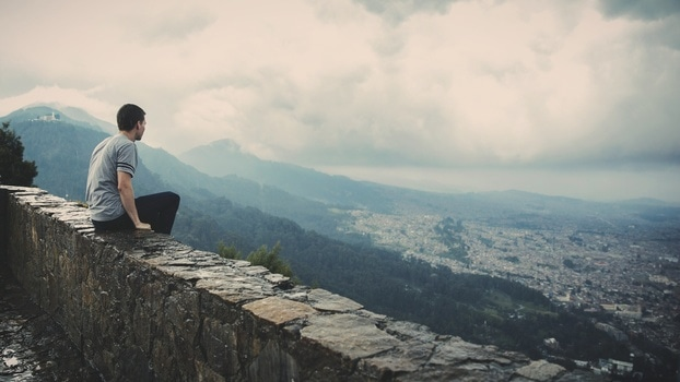 Free stock photo of man, person, wall, sitting