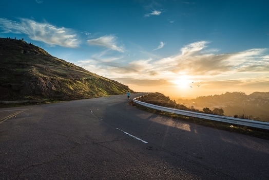 Free stock photo of road, dawn, mountains, sky