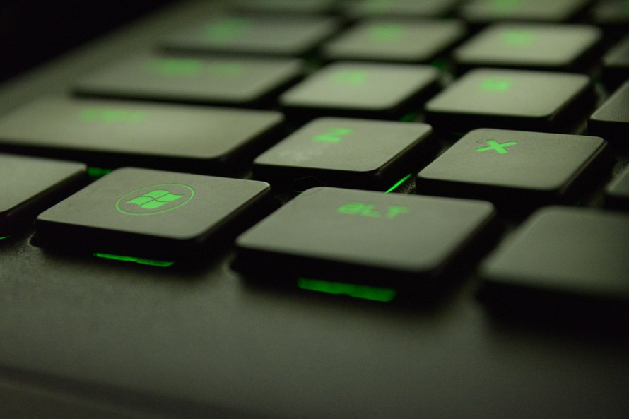 Green keyboard. (Image provided by Pexels)