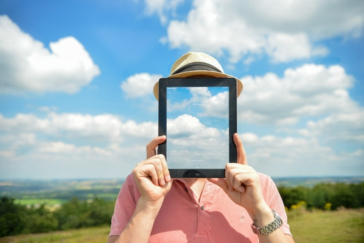 Free stock photo of man, person, clouds, apple