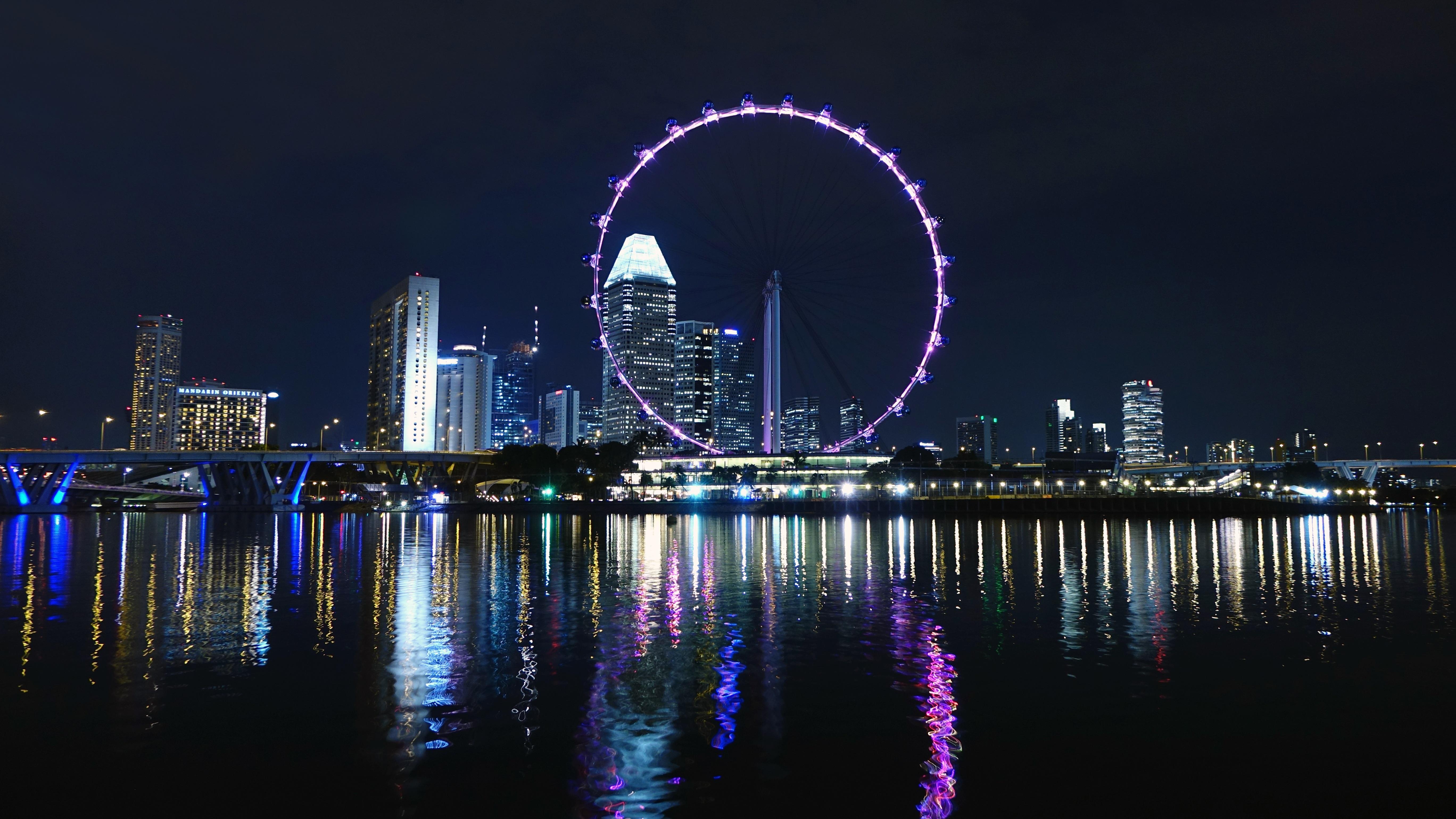 Stock Chart Singapore: London Eye at Night · Free Stock Photo,Chart