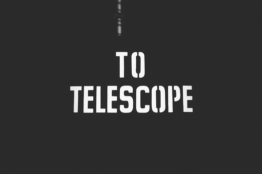 Free stock photo of telescope, typography