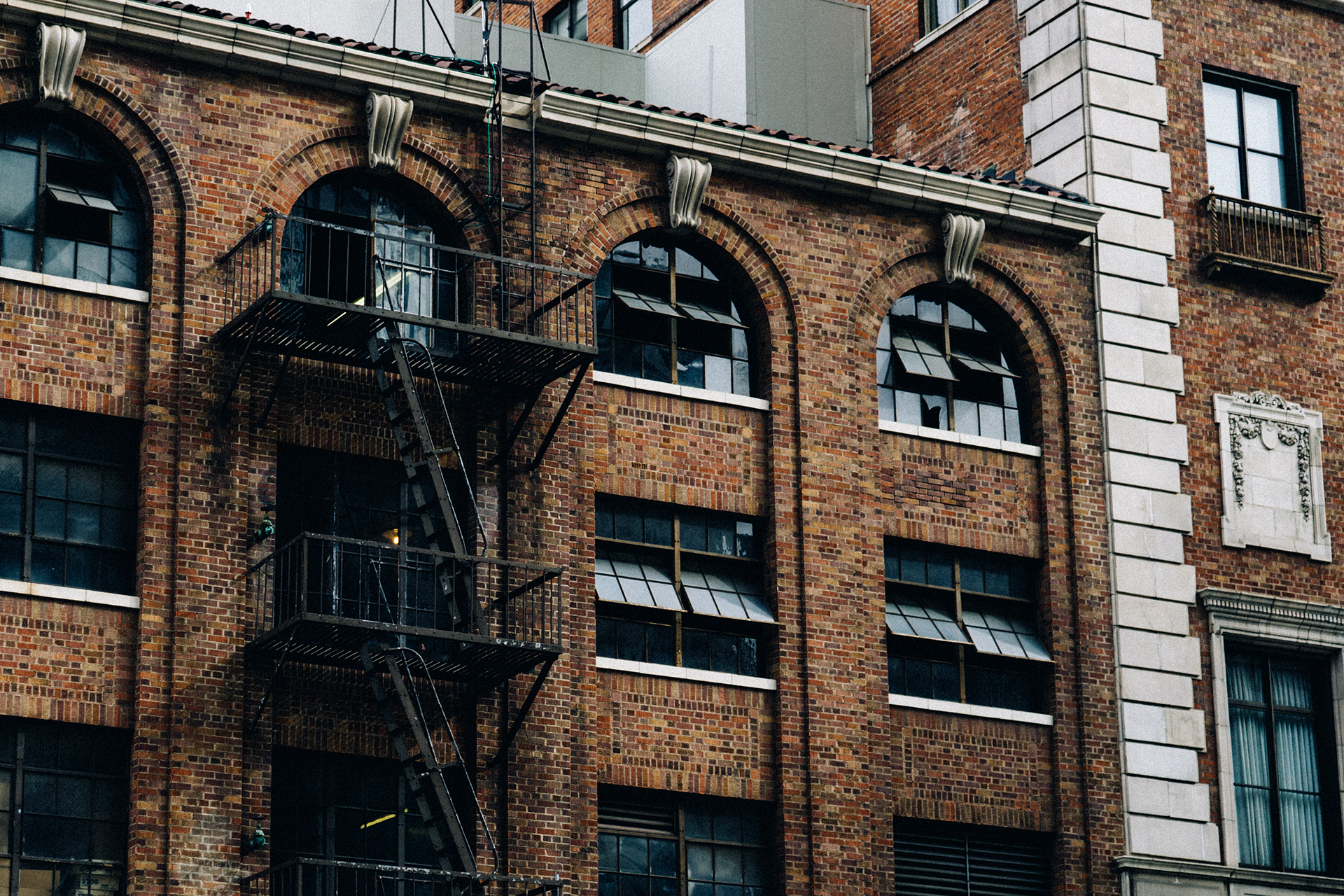 Free Stock Photo Of Bricks Building Fire Escape