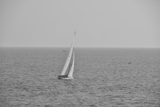 Free stock photo of sea, black-and-white, ocean, boat