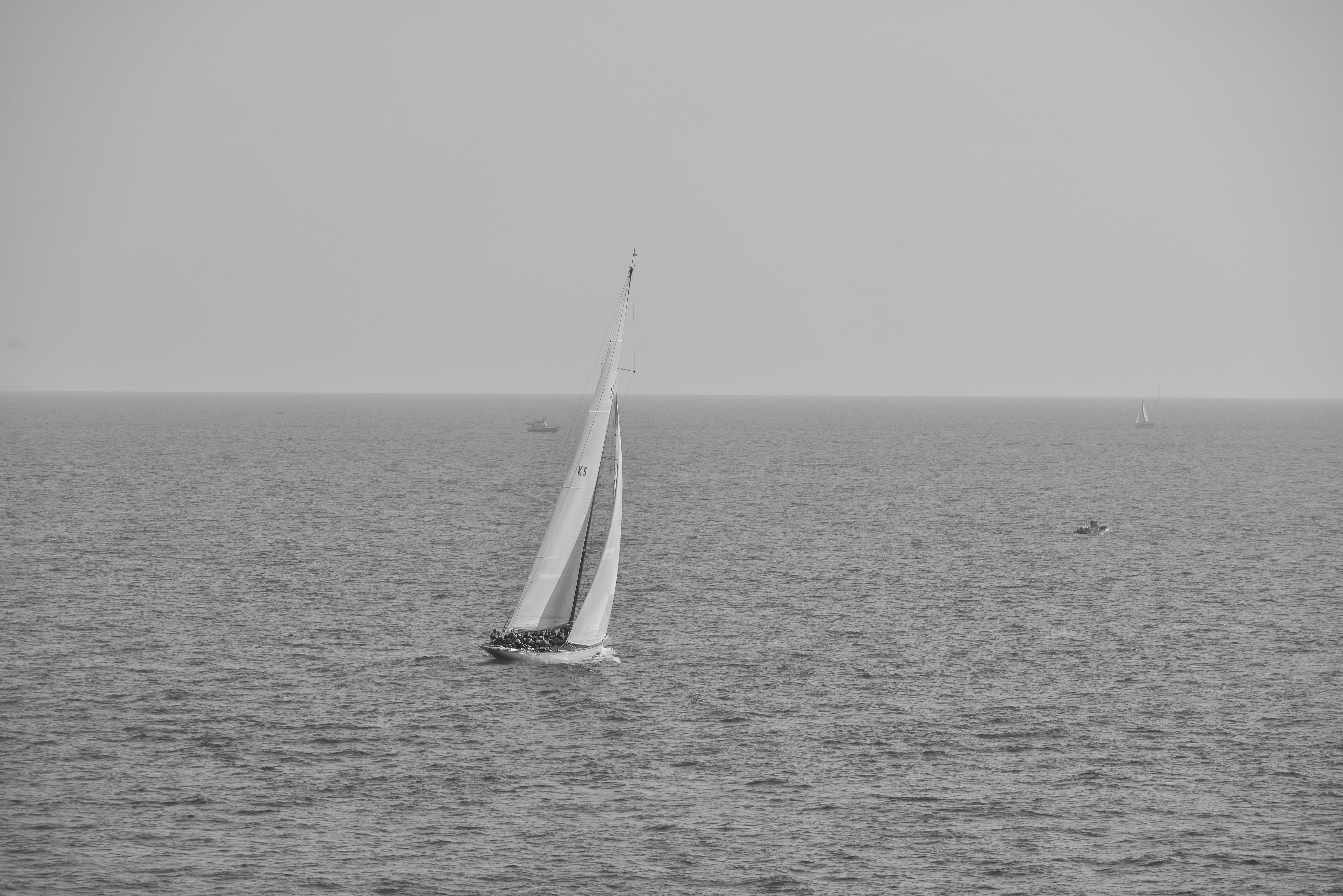 free stock photo of black and white boat ocean