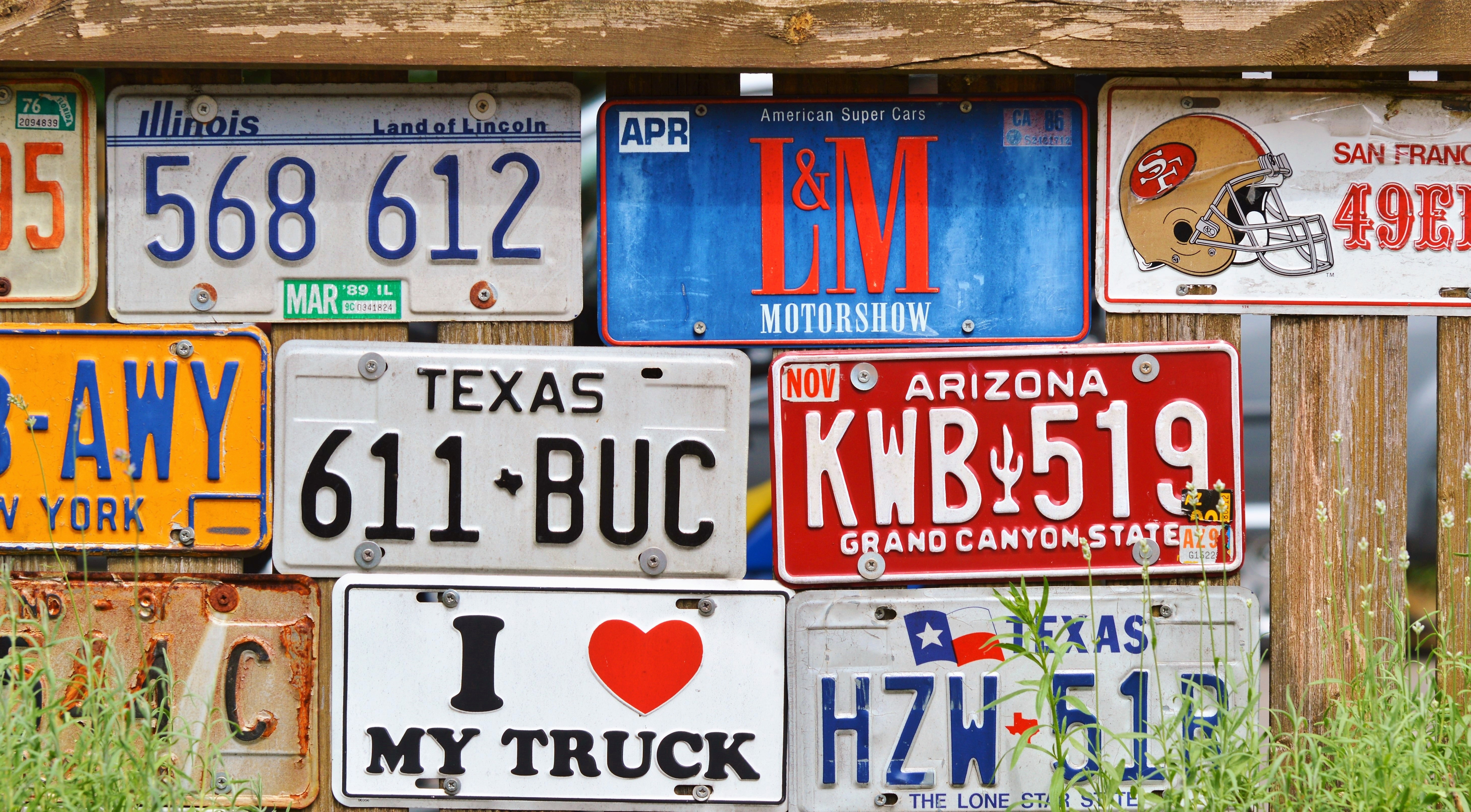 Free stock photos of vehicle registration plate · Pexels