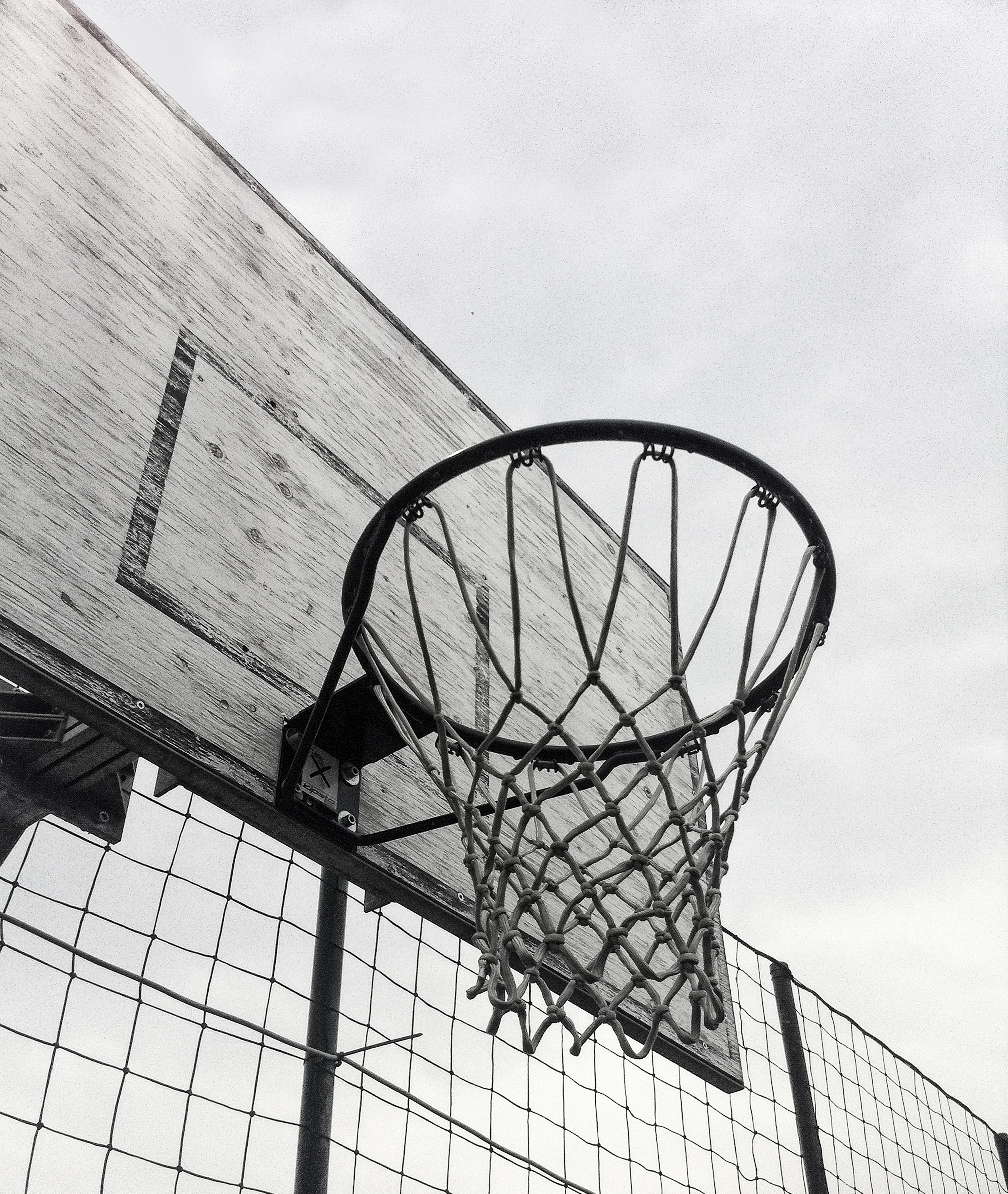 free stock photo of basketball hoop black and white board