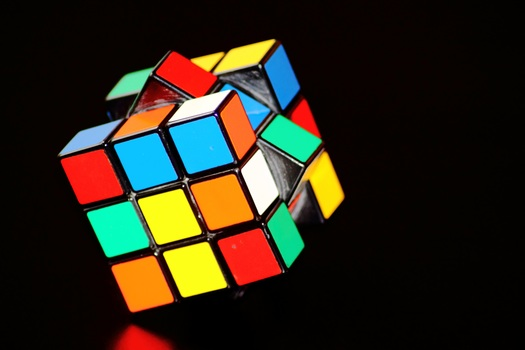 Free stock photo of colorful, play, concentration, cube
