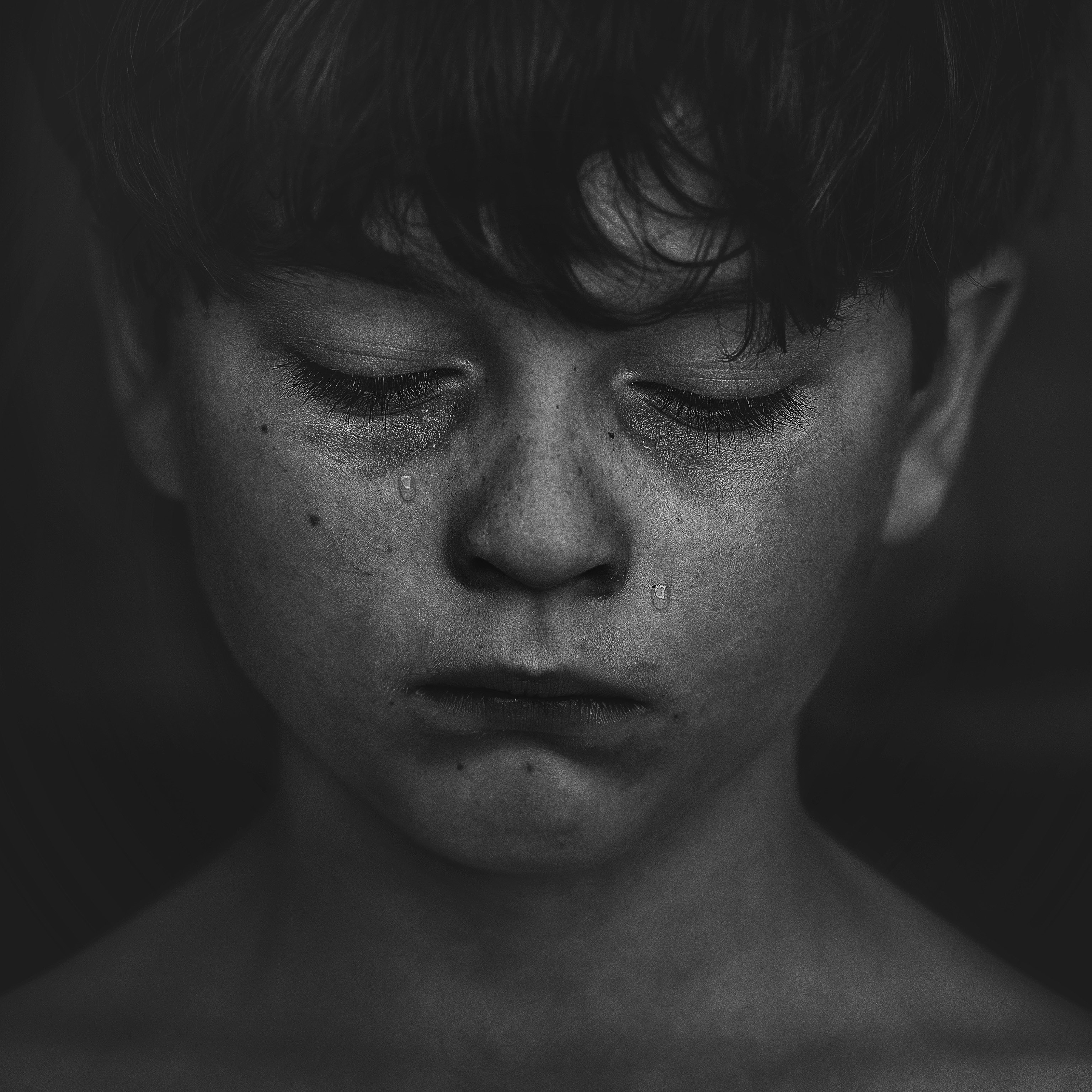 Free stock photo of alone, black and white, boy