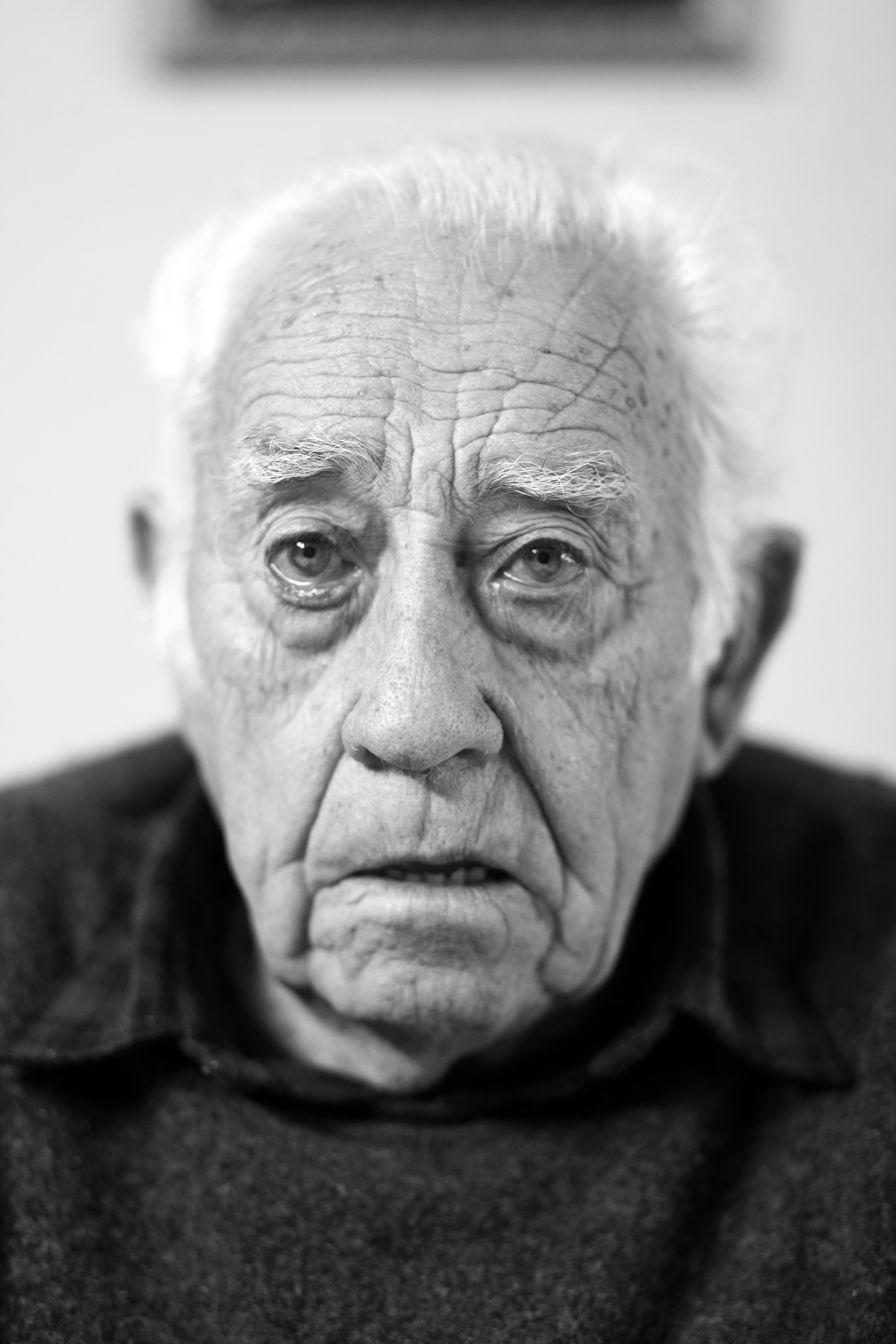 Free stock photo of black and white, elder, face