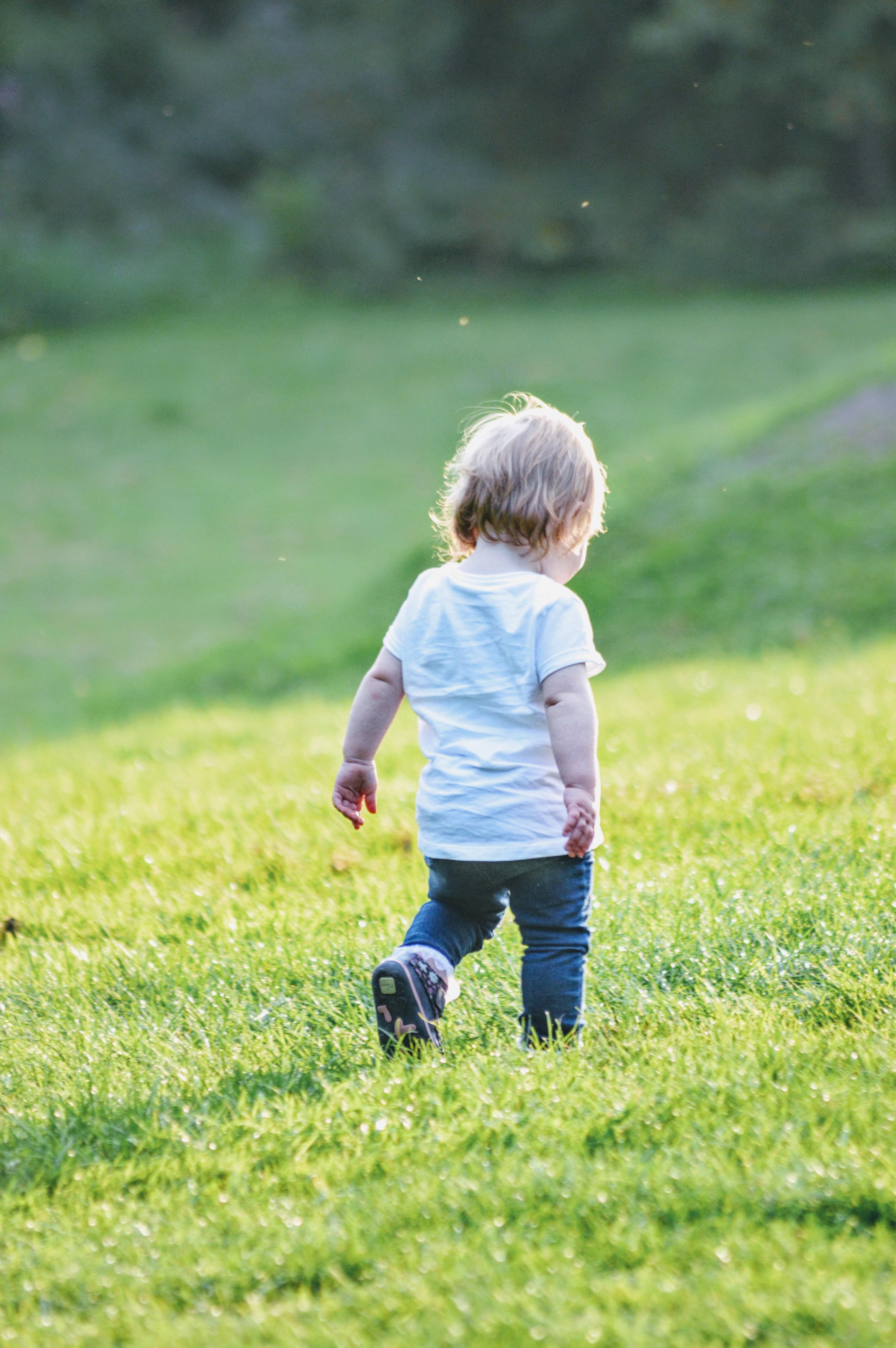 Free Stock Photo Of Kid Child Baby Walking Grass Summer