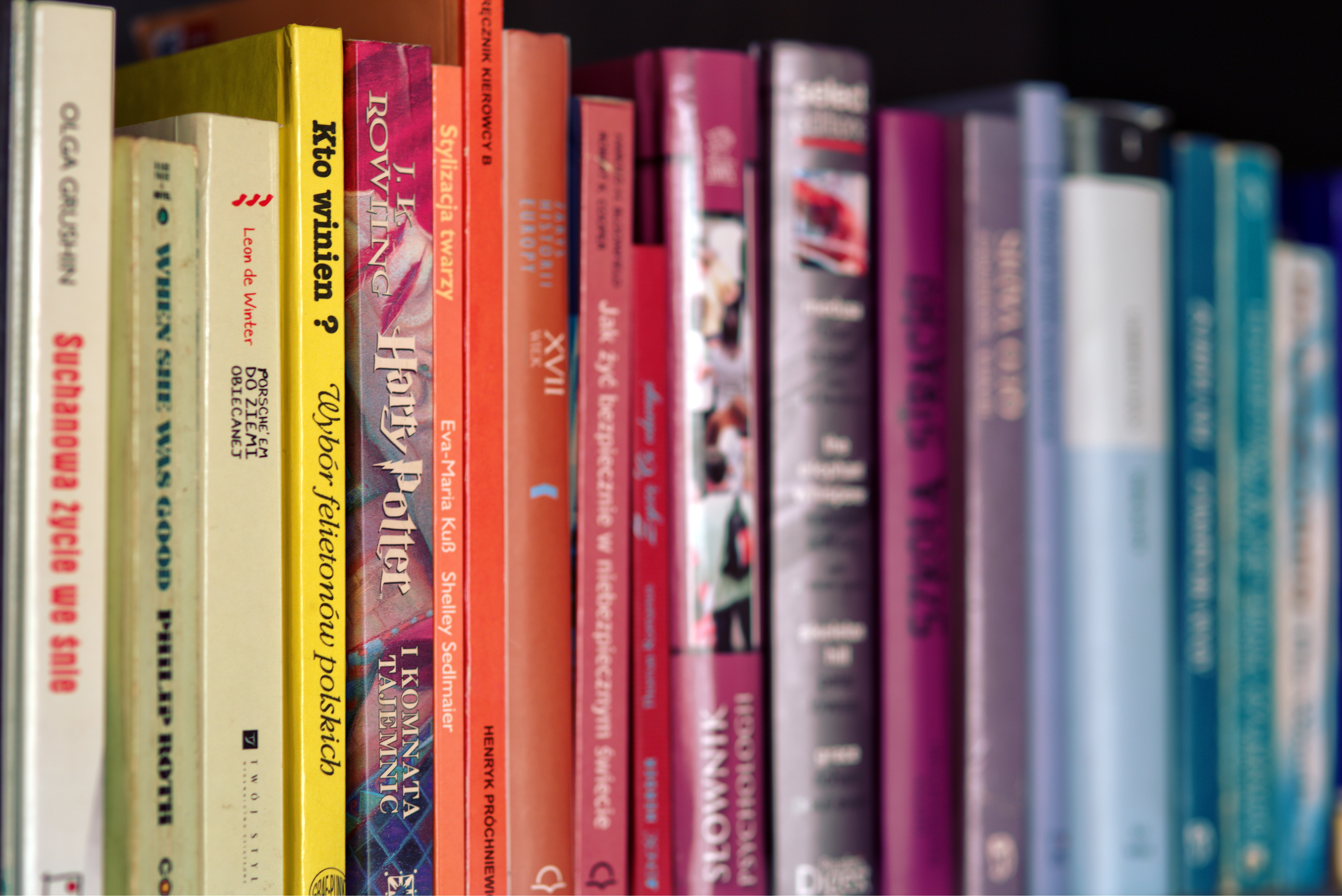 Books Shelf colorful books on shelf · free stock photo
